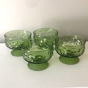Anchor Hocking Avocado Green Dessert Cups